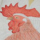 竹柵に群れ鶏の付下 質感・風合