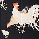 鶏の図黒留袖 質感・風合