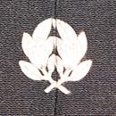 鶏の図黒留袖 背紋