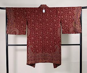 カシミール赤の羽織