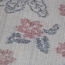 浦野理一作 椿に桜と蝶の絣縦節紬 質感・風合