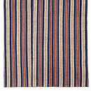 浦野理一作 藍にグレー、赤、黄の太縞縦節紬 上前