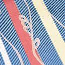 縦縞にワラビ文様小紋 質感・風合