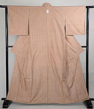 吉岡幸雄作 縦双子縞の紬