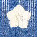 柳にツバメブルーの色留袖 背紋