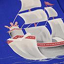 帆船の図単衣訪問着 質感・風合