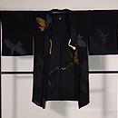 烏と鷺の単衣羽織 正面