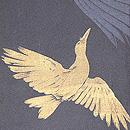 烏と鷺の単衣羽織 質感・風合