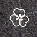 烏と鷺の単衣羽織 背紋