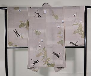 エンドウに蜻蛉単衣羽織