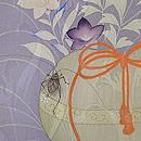 秋野に虫かごの絵羽織 質感・風合