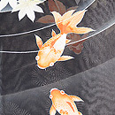 金魚に青紅葉紗羽織 質感・風合