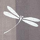 絽縮緬にトンボの長羽織 質感・風合