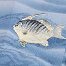 流水紋に魚の付下 質感・風合