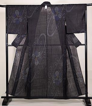 水紋に桐の宮古上布