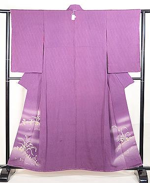 京紫地春の野の花色留袖