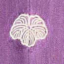 京紫地春の野の花色留袖 背紋