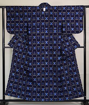 こうげい製 遠州椿文様単衣琉球紬