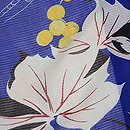 葡萄の図絽縮緬小紋 質感・風合