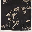 蝉に樹木の図絽小紋 上前