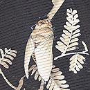 蝉に樹木の図絽小紋 質感・風合