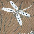絞り尽くし蜻蛉の図絽小紋 質感・風合