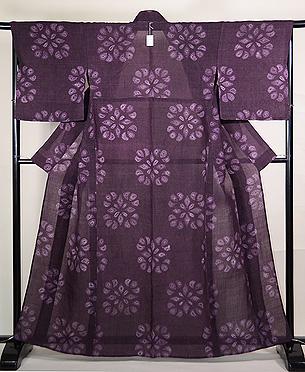 こうげい作 南部絞り紫根染めの上布