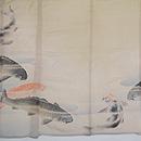 鯉の図絽縮緬訪問着 背紋