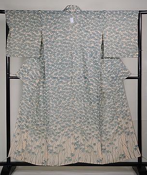 青紅葉の図夏絽錦紗付下