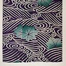 水紋に青紅葉絽の小紋 上前