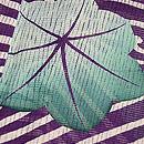 水紋に青紅葉絽の小紋 質感・風合