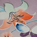 百合に秋の草花花籠文様絽縮緬色留袖 質感・風合