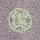 百合に秋の草花花籠文様絽縮緬色留袖 背紋