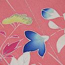撫子に女郎花の図単衣訪問着 質感・風合