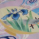 流水に夏の花盃文様絽縮緬色留袖 質感・風合