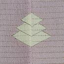 流水に夏の花盃文様絽縮緬色留袖 背紋