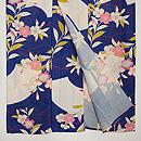 枝垂れ桜に扇面文様単衣 上前