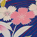 枝垂れ桜に扇面文様単衣 質感・風合