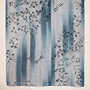 萩と撫子に蜻蛉文様縦ぼかし綿麻小紋 上前