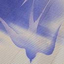 柳にツバメ文様絽小紋 質感・風合