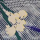 簾紋に菖蒲の単衣小紋 質感・風合
