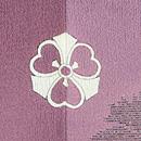 紫暈しナデシコの単衣小紋 背紋