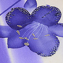 縦ぼかしに百合の花文様単衣小紋 質感・風合