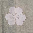 浅緑地秋草文様色留袖 背紋