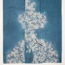 藍鼠色秋の図色留袖 上前