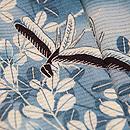 藍鼠色秋の図色留袖 質感・風合
