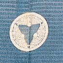 藍鼠色秋の図色留袖 背紋