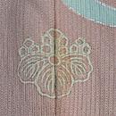 ピンク地流水に秋草文様単衣訪問着 背紋