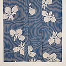 簾紋に菖蒲の絽地小紋 上前