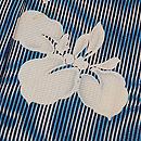 簾紋に菖蒲の絽地小紋 質感・風合